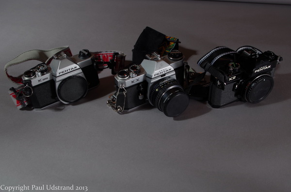Pentax K Series. K-100, KX, and K2