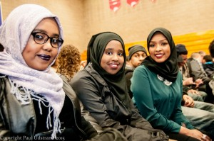From the left: Saida Mahamud, Hibak MohamedMegan Abdirahman,  Shared their views and expectations prior to the event.